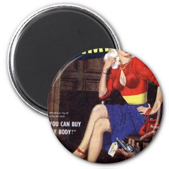 Criminal Blonde 2 Inch Round Magnet