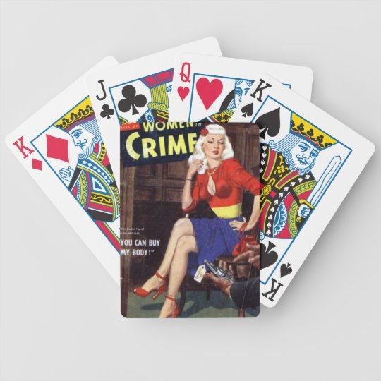 Criminal Blonde Bicycle Playing Cards