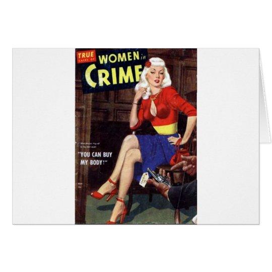 Criminal Blonde Card