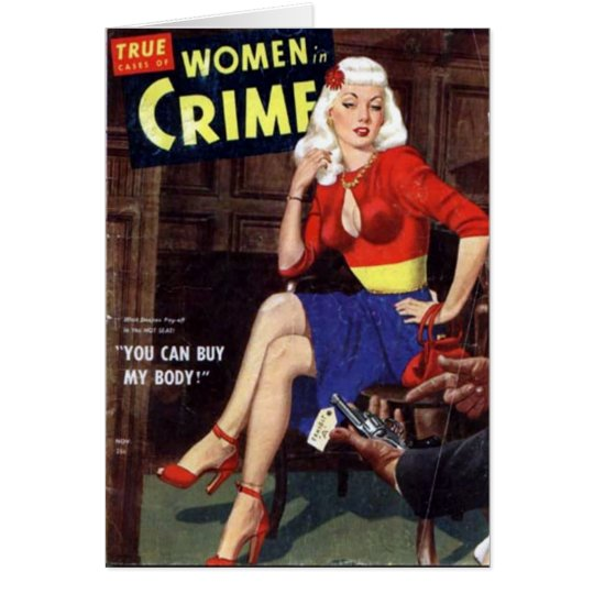 Criminal Blonde Card