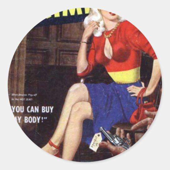 Criminal Blonde Classic Round Sticker