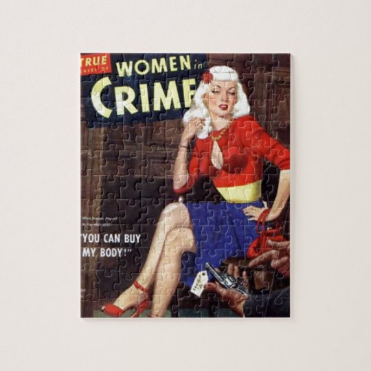 Criminal Blonde Jigsaw Puzzle
