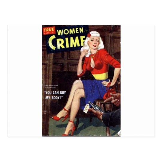 Criminal Blonde Postcard