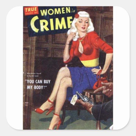 Criminal Blonde Square Sticker