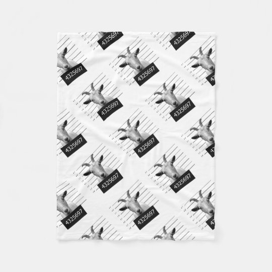 Criminal goat fleece blanket