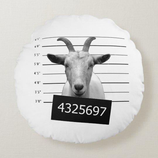 Criminal goat round pillow