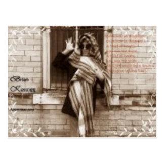 criminal in disguise promo postcard