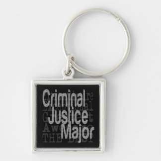 Criminal Justice Major Extraordinaire Keychain