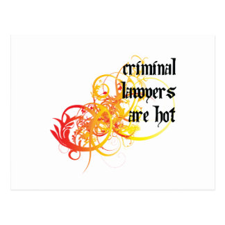 Criminal Lawyers Are Hot Postcard