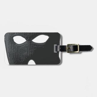 criminal-mask luggage tag