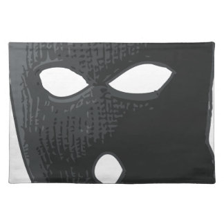 criminal-mask placemat