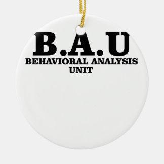 Criminal Minds BAU Behavioral Analysis Unit Shirts Ceramic Ornament