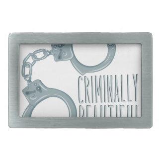 Criminally Beautiful Belt Buckle