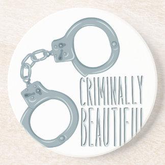 Criminally Beautiful Beverage Coasters