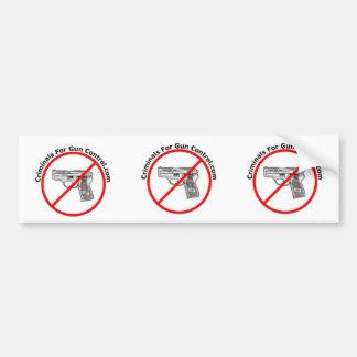 Criminals For Gun Control Logo Bumper Sticker