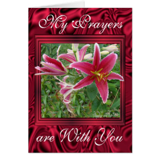 Crimmson Lilies- customize any occasion Card