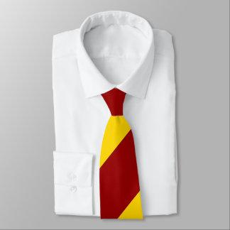 Crimson and Gold Broad Regimental Stripe Tie