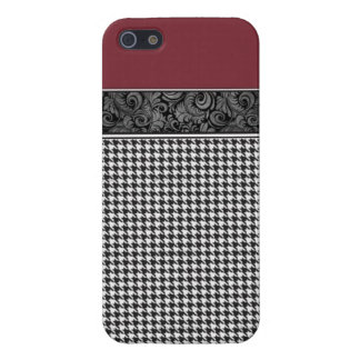 Crimson and Houndstooth iPhone 5 Case