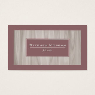 Crimson and light wood textured marble business card