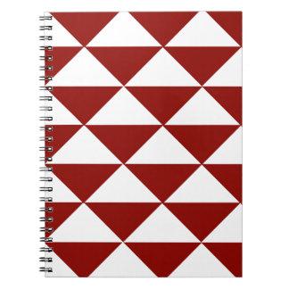 Crimson and White Triangles Notebooks