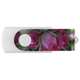 Crimson baby rosebuds USB flash drive