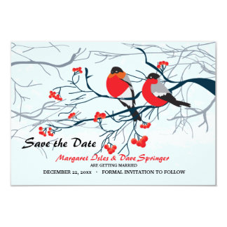 Crimson-breasted Birds Save the Date Card