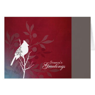 Crimson Cardinal Holiday Note Card