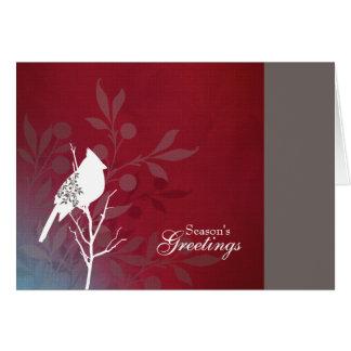 Crimson Cardinal Holiday Note Card