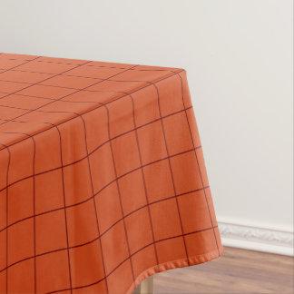 Crimson Checkered Tablecloth