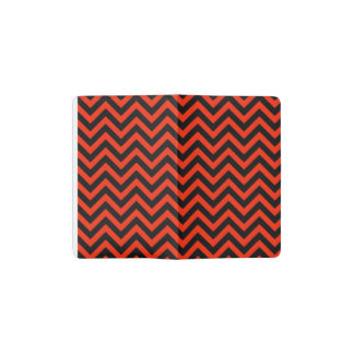 Crimson Chevron 2 Pocket Moleskine Notebook