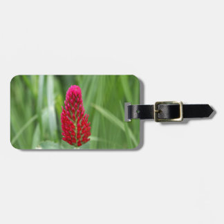 Crimson Clover Luggage Tag