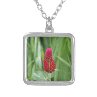Crimson Clover Silver Plated Necklace