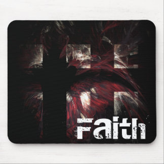 Crimson Crosses - Faith Mousepad