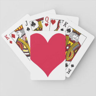 Crimson Cute Heart Playing Cards