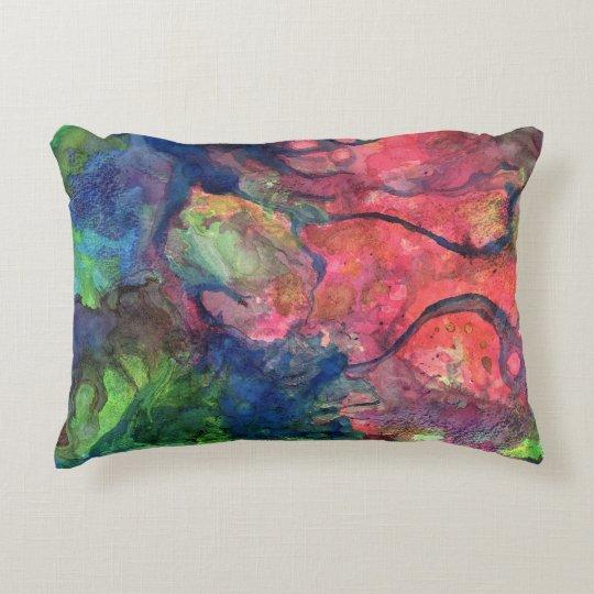 Crimson Dawn Accent Pillow