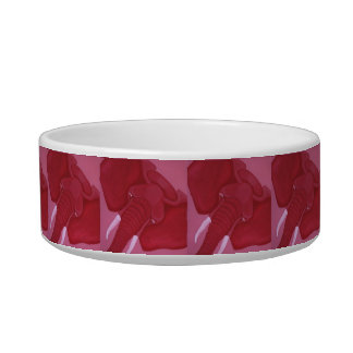 Crimson Elephant Cat Bowl