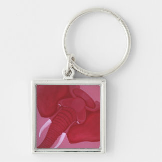 Crimson Elephant Keychain