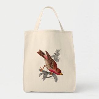 Crimson Fronted Finch Tote Bag