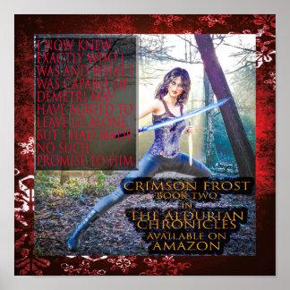 Crimson Frost Poster Semi-Gloss