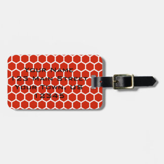 Crimson Hexagon 2 Luggage Tag