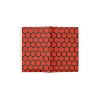 Crimson Hexagon 4 Pocket Moleskine Notebook