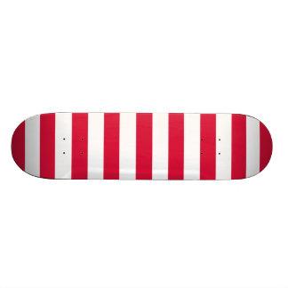 Crimson Horizontal Stripes; Striped Skateboards