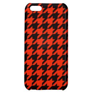 Crimson Houndstooth 2 iPhone 5C Case