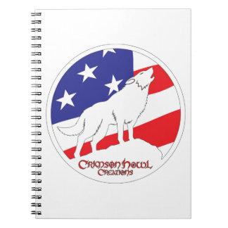 Crimson Howl Flag Note Books