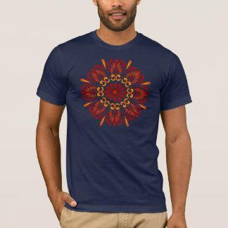 Crimson Mandala Mens Fitted T-shirt