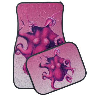 crimson octopus car mat