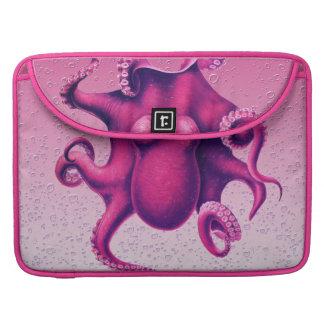 crimson octopus sleeve for MacBook pro