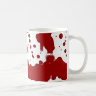 Crimson on White Coffee Mug