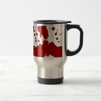 Crimson on White Travel Mug