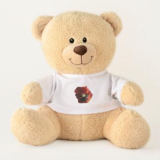 Crimson Pansy Teddy Bear